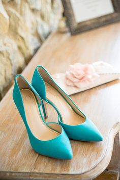 Turquoise Blue Suede Bridal Pumps by Jessica Simpson | CHICKS WITH CAMERAS LLC | http://knot.ly/6494Btlhj