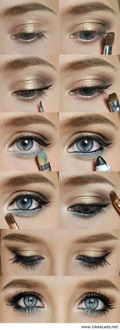 Gold & Blue - Amazing makeup