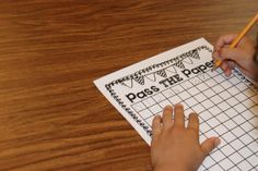 """pass the paper designed for small group practice to reinforce counting and writing numbers 0- 120. I put my students in teams of 4-5. When I say """"GO"""", each student in the group writes one number in the blank 120 chart. For example, student 1 writes a 0 and passes it to student 2 who writes a number 1. This continues this until their chart is completed with numbers 0-120."""