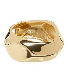 Look at this #zulilyfind! Goldtone Hammered Bangle #zulilyfinds