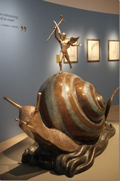 Snail and the Angel, conceived in 1977 first cast in 1984, bronze - Salvador Dali.