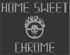 Note: This listing is for the pattern only!  Featuring Immortan Joes insignia from Mad Max: Fury Road, let this pattern declare to all that your