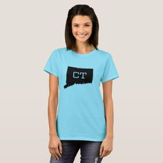 Connecticut State Map CT Women's T-Shirts custom gift ideas diy