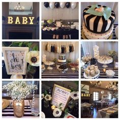 Adorable Penguin Baby Shower Ideas | Black White, Party Ideas And Black And  White