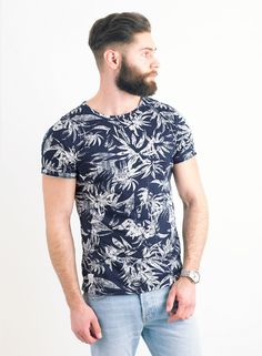 Men's Native Youth Navy Tropical Tee