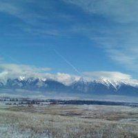 (4) Gail Garcia - Mission Mt. in Montana - bison range in foreground