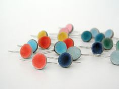 Clay earrings, Choose your color, modern air dry clay small dome earrings, minimalist earrings, color block, spring summer, custom color on Etsy, $20.00