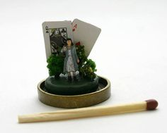 Tiny World Miniature glass dome with woman and by MaBelleEpoque
