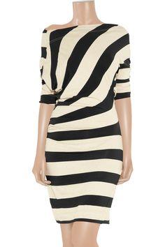 Vivienne Westwood Anglomania|Arianna striped jersey dress|NET-A-PORTER.COM