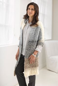 Casual Comfort Jacket in Lion Brand Homespun Thick & Quick - L30130. Discover more Patterns by Lion Brand at LoveKnitting. The world's largest range of knitting supplies - we stock patterns, yarn, needles and books from all of your favorite brands.