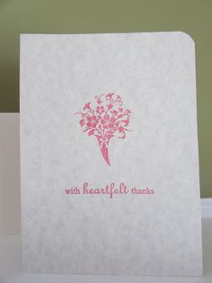 Thank You card-set of 2 by HabitatHaven on Etsy