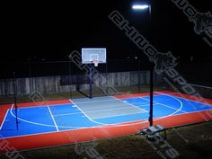 This half court basketball court lighting fixture package includes backyard basketball court lighting wisconsin courts gallery gallery test collection backyard courts aloadofball Gallery