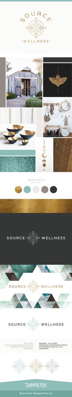 Source Wellness Acupunture NY Brand, Logo and Website Design by Dapper Fox | Aqua, Calm, Serene, Acupuncture, Spa, Modern, Nature, Ocean, Blue, Turquoise, Green, Bronze Branding