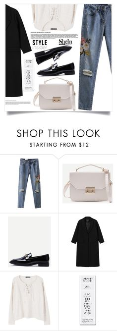 """""""Bez naslova #1645"""" by violet-peach ❤ liked on Polyvore featuring WithChic, Monki, MANGO and Trademark Fine Art"""