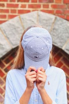 I'm crazy for gingham. It's so classic and the colors are perfect but it's sometimes hard to find things in the pattern. I was at Vineyard Vines the other day and spotted the most perfect gingham hat