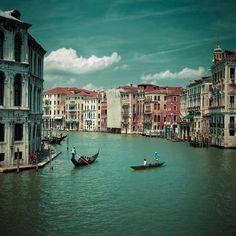 View from Realto Bridge, Venice, Italy
