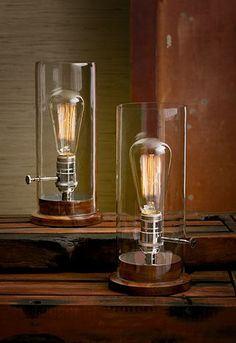 industrial lamp - these would be perfect on my credenza.
