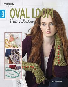 Oval Loom Knit Collection - You'll love the assortment of projects in Oval Loom Knit Collection from Leisure Arts. Designed for light and medium weight yarns, innovative oval looms make it easier than ever to knit a variety of projects for gifts and home décor. Two loom sizes let you produce large and small projects. Creations by Kathy Norris include Heart Baby Bib, Garter Booties, Lacy Stripes Baby Blanket, Garter Checks Cowl, Button-Up Gauntlets, Checks Hat, and Leisure Time Pillow and…