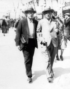 Anton Webern and Arnold Schoenberg.