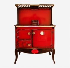 Reconditioned Stanley 8 on Legs Claret Shaded Enamel with Plate Rack and Splash Back Waterford Stanley, Range Cooker, Plate Racks, Boiler, Liquor Cabinet, Buffet, Enamel, New Homes, Plates