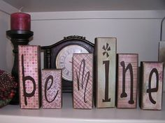 Valentine word blocks