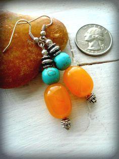 Boho Earrings  Yoga Earrings  Boho Jewellery  by HandcraftedYoga, $25.00