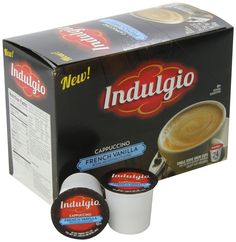 French Vanilla Cappuccino Single Serve for Keurig K-Cup Brewers 24 Pack #Indulgio Cappuccinos, K Cups, Coffee Pods, Keurig, Cooking Recipes, Ebay, Chef Recipes