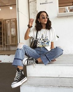 25 school outfit teenage to look cool and fashionable 2 – InspireandIdeas Outfits 1970s, Indie Outfits, Retro Outfits, Cute Casual Outfits, Cute Vintage Outfits, Cool Girl Outfits, 90s Inspired Outfits, Edgy Fall Outfits, Layered Outfits