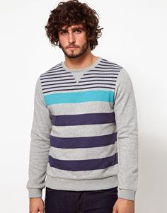 ASOS Stripe Sweatshirt: XL