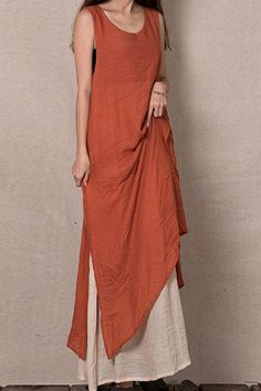 Color Block Sleeveless Linen Maxi Dressfrom http://www.zaful.com/color-block-sleeveless-linen-maxi-dress-p_57036.html