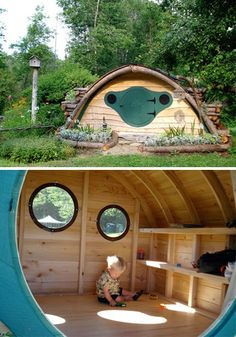 Hobbit holes YES PARENTING DONE RIGHT. To heck with any children I may have, I want one for ME!