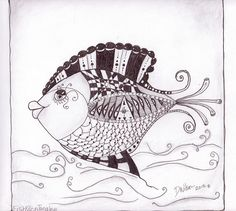 Zentangle Fish by ~DWilson/Belleza, via Flickr