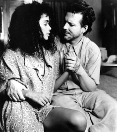 Lisa Bonet and Mickey Rourke in Angel Heart. Damn, Mickey was HOT.