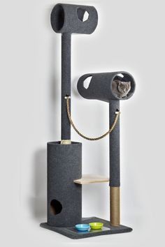 My cat definitely deserves this    Modern Cat Tree by danchanand on Etsy