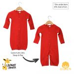 CONVERTIBLE  2 in 1    Baby Gown with Mittens  and Baby Sleep N Play - Pajama's