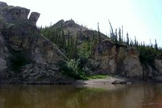 Porcupine River past Old Crow.