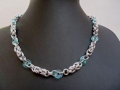 Mám ráda modrou... Chain Mail, Mail Art, Beading, Creations, Jewelry, Fashion, Chokers, Jewerly, Moda