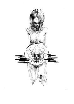 pen illustration melting conception