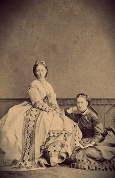 Princess Alice and Queen Alexandra - 1863.