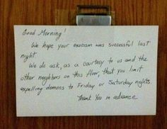 19 Notes From Pissed Off Neighbors, #13 Would Drive Me Insane Too…