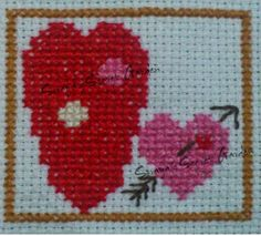 Heart in Hand Needleworks Monthly Markings  February Cross Stitch Ponto Cruz