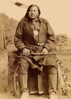 An old photograph of Spotted Elk - Sioux (possibly 1891)