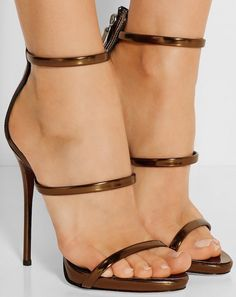 Silver/Gold Patent Leather Women Straps Sandals Sexy Open Toe Zipper Back Ladies Fashion High Heels Female Elegant Party Shoes Open Toe High Heels, Hot High Heels, High Heel Boots, Sexy Sandals, Sexy Heels, Stiletto Heels, Shoes Sandals, Ankle Strap Heels, Strap Sandals
