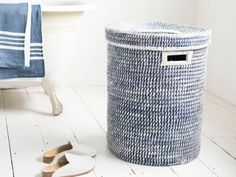 This handwoven beauty is a versatile one. Ball up old socks and use for basketball practice. Or just use as a really lovely laundry basket. Your choice.