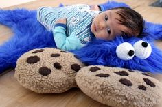 Easy DIY project: adorable Cookie Monster rug that takes about an hour to complete