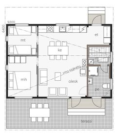 Family House Plans, Small House Plans, Beach Cottage Style, Beach Cottages, Humble Abode, Small Living, Tiny House, Pergola, Floor Plans