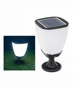 Design solar tuinverlichting Cub light Izar - wit
