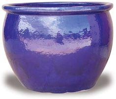 Cobalt Blue fishbowl planter