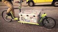 DIY Cargo Bike Plans and Blueprints Building Info and image 2 Electric Cargo Bike, Velo Cargo, Diy Go Kart, Bike Trailer, Motorcycle Trailer, 3d Cad Models, Bike Frame, Bike Parts, Technical Drawing