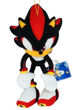 Super cool official Shadow the Hedgehog plush toy! Sonic Sonic, Sonic And Amy, Sonic And Shadow, Shadow The Hedgehog, Sonic The Hedgehog, Sonic Plush Toys, Super Shadow, Happy Birthday Drawings, Sonic The Movie